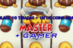 ENLACE 10 TIRADAS + 1M DE COINS GRATIS